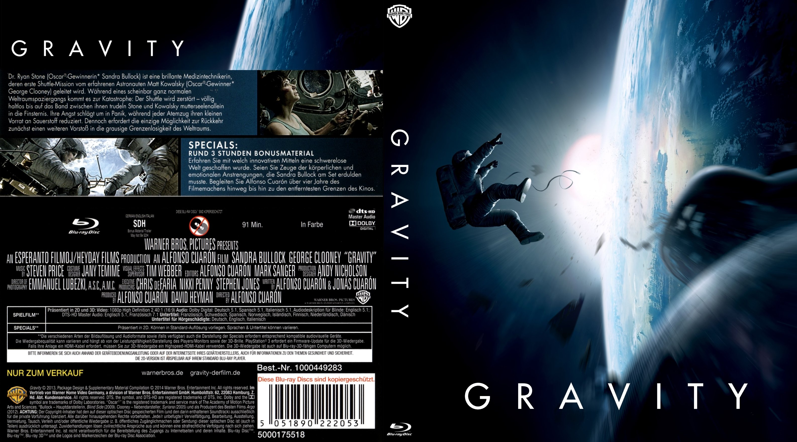 gravity german dvd covers