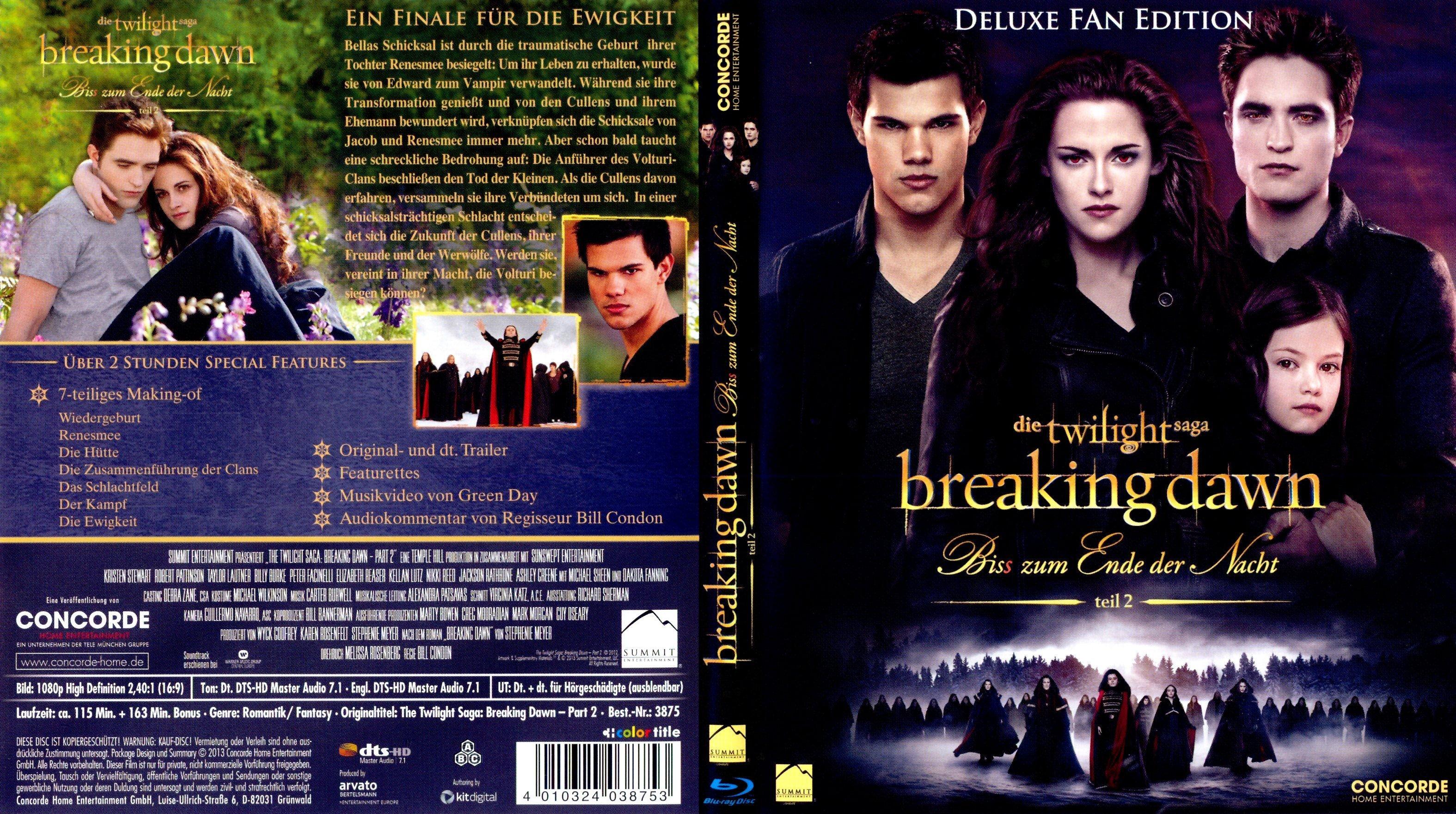 Twilight Breaking Dawn Bis Zum Ende Der Nacht Teil 2 German Dvd