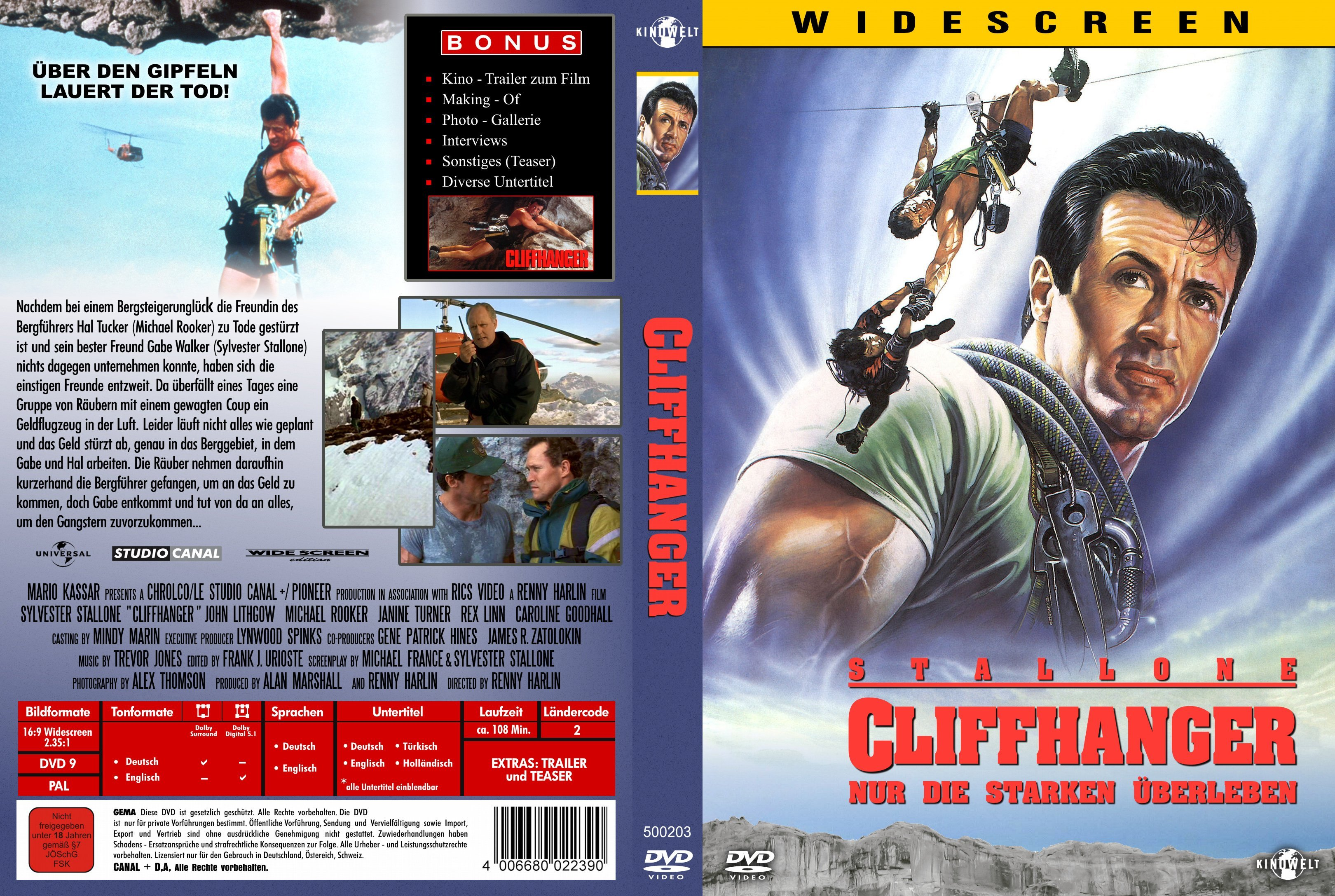 Cliffhanger German Dvd Covers