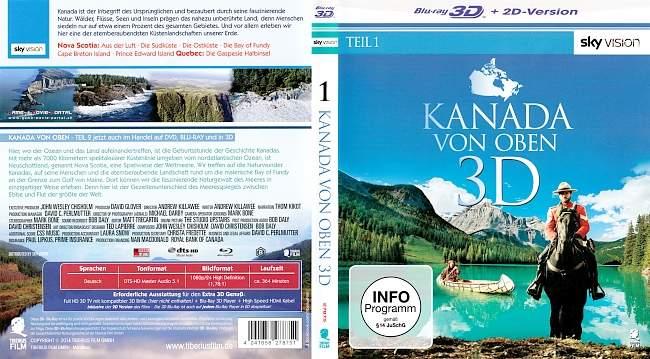 Kanada von oben 3D blu ray cover german