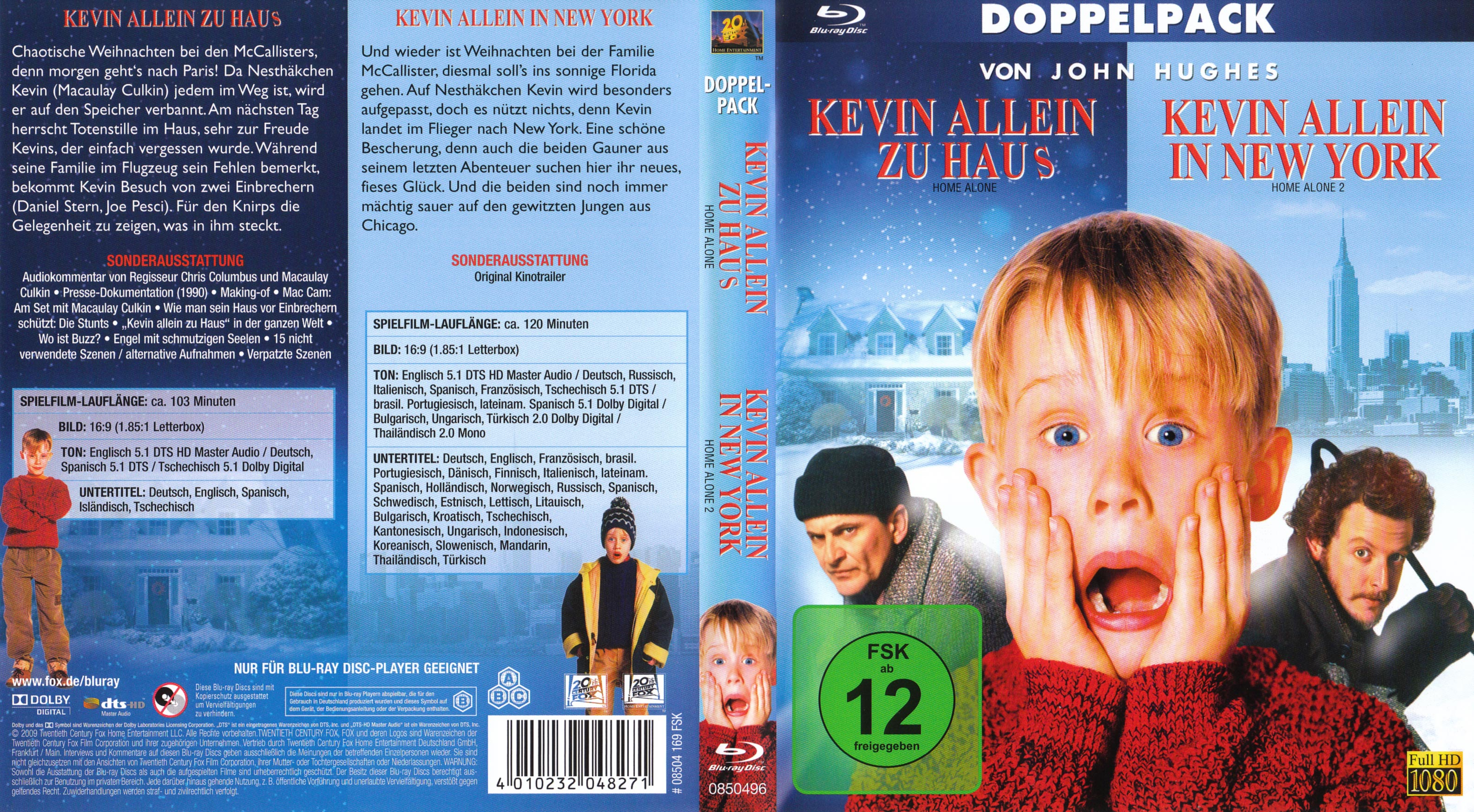 Kevin Allein zu Haus In New York Double Feature blu ray
