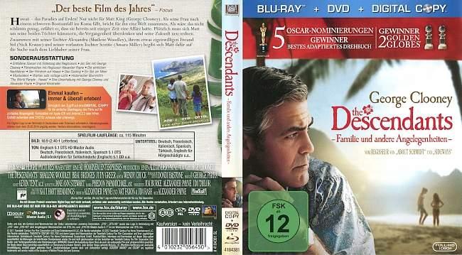 The Descendants Familie und andere Angelegenheiten german blu ray cover