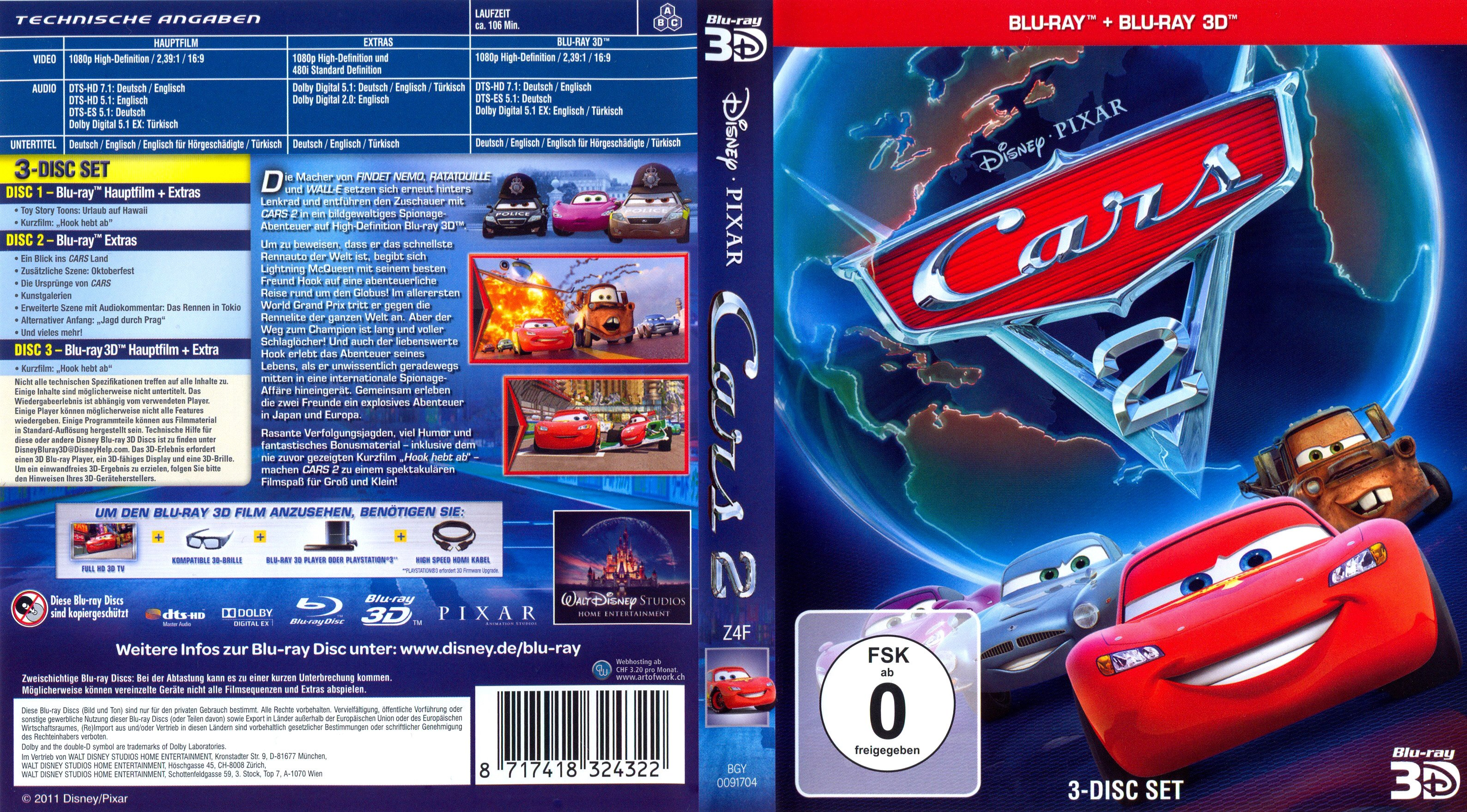 cars 2 german blu ray cover german dvd covers. Black Bedroom Furniture Sets. Home Design Ideas