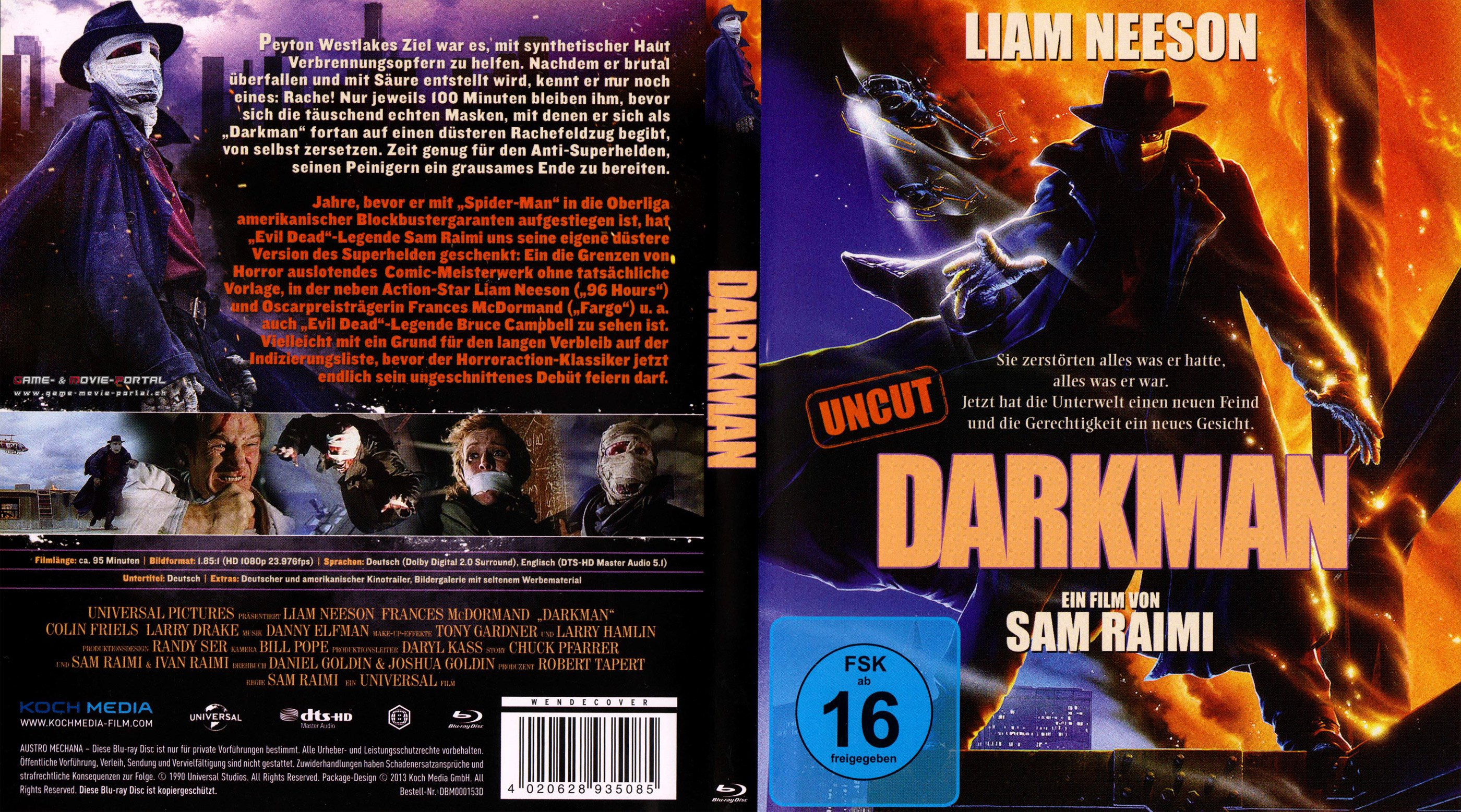 Darkman blu ray cover german | German DVD Covers