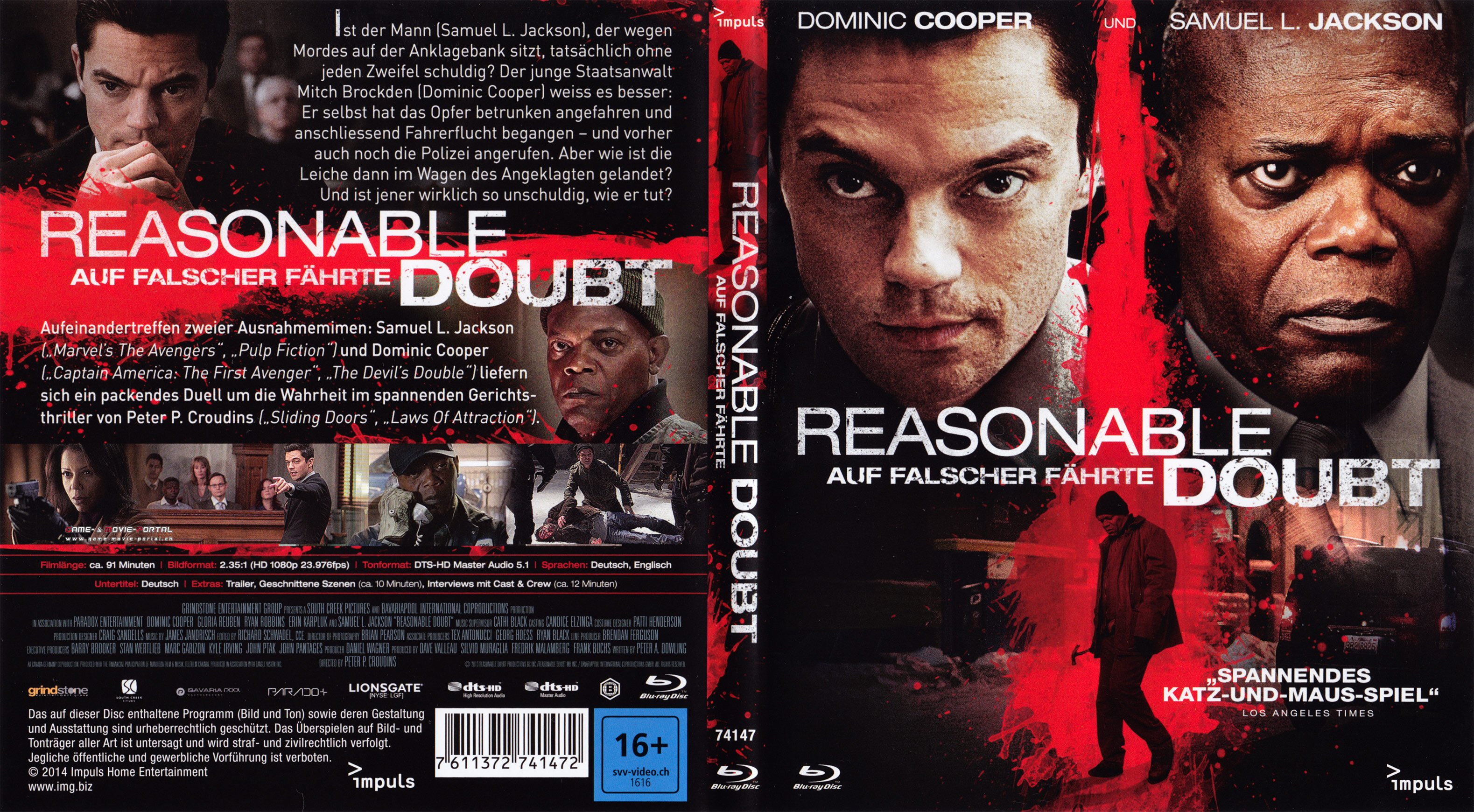 reasonable doubt auf falscher faehrte blu ray cover german german dvd covers. Black Bedroom Furniture Sets. Home Design Ideas