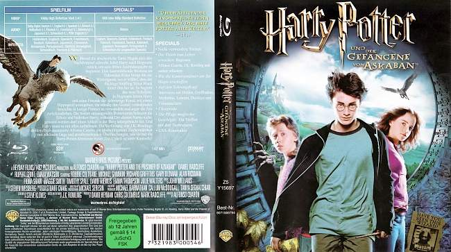 Harry Potter und der Gefangene von Askaban german blu ray cover