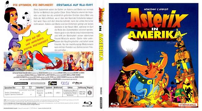 Asterix in Amerika blu ray cover german