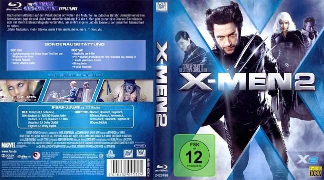 X Men 2 blu ray cover german