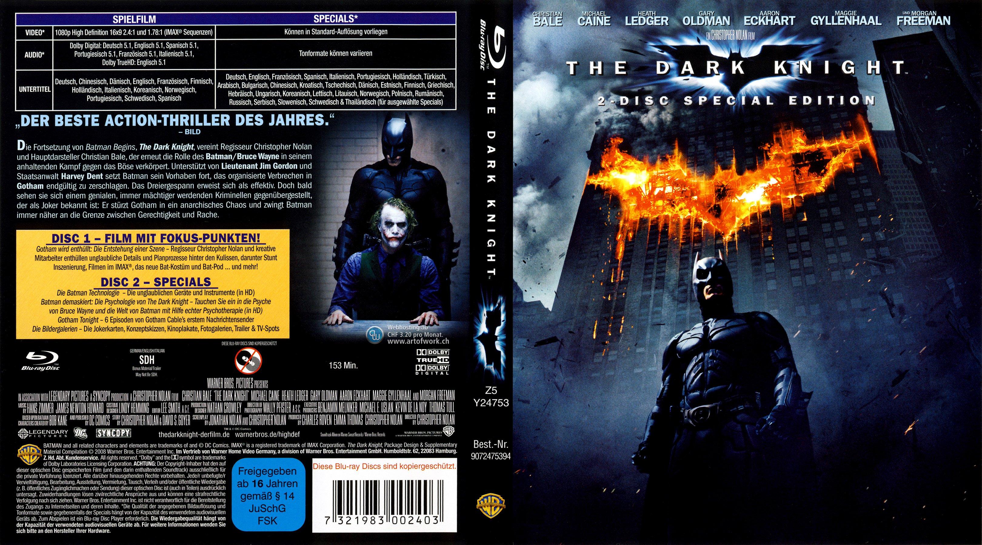 batman the dark knight german blu ray cover german dvd