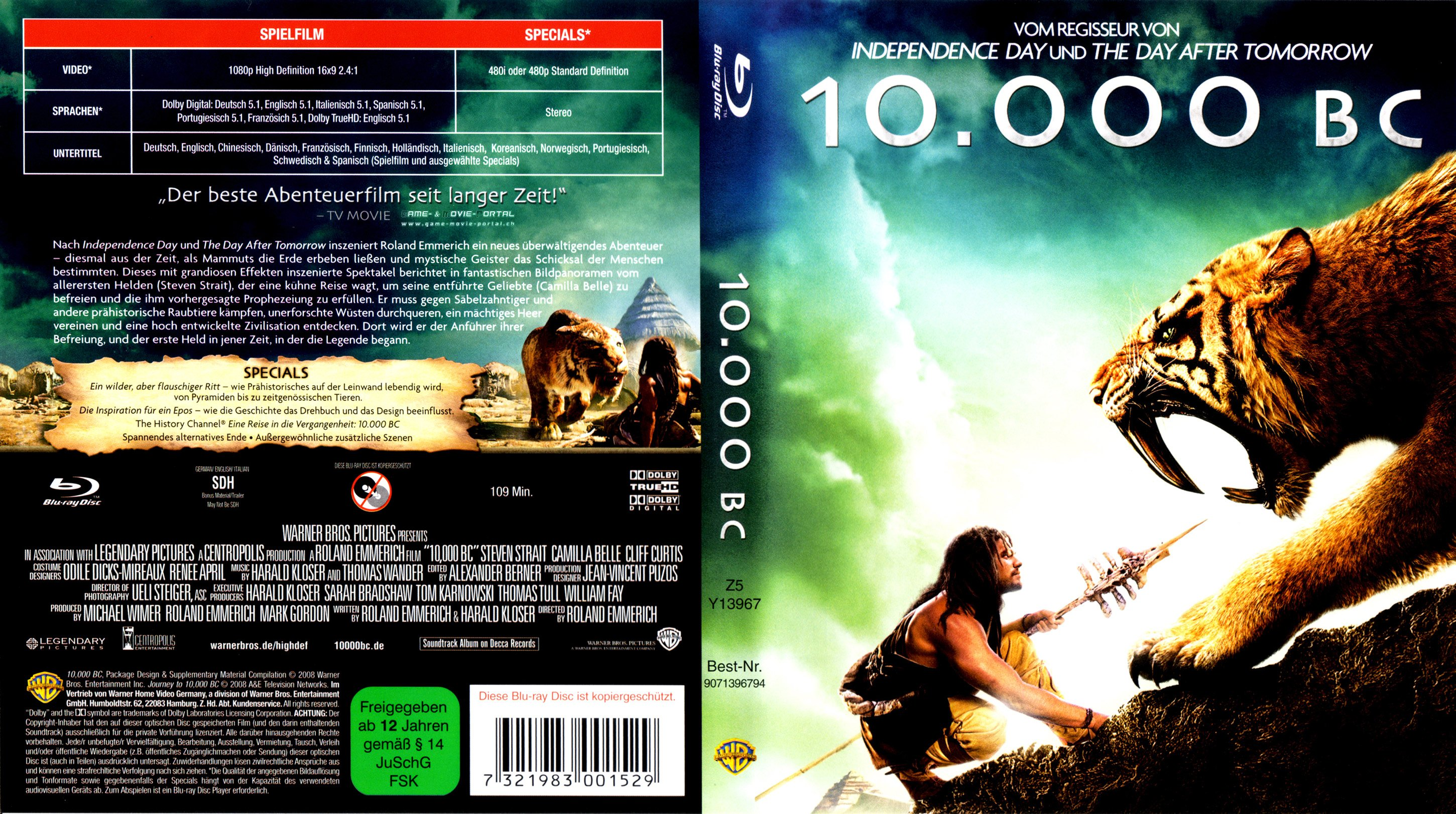 10000 bc movie home site
