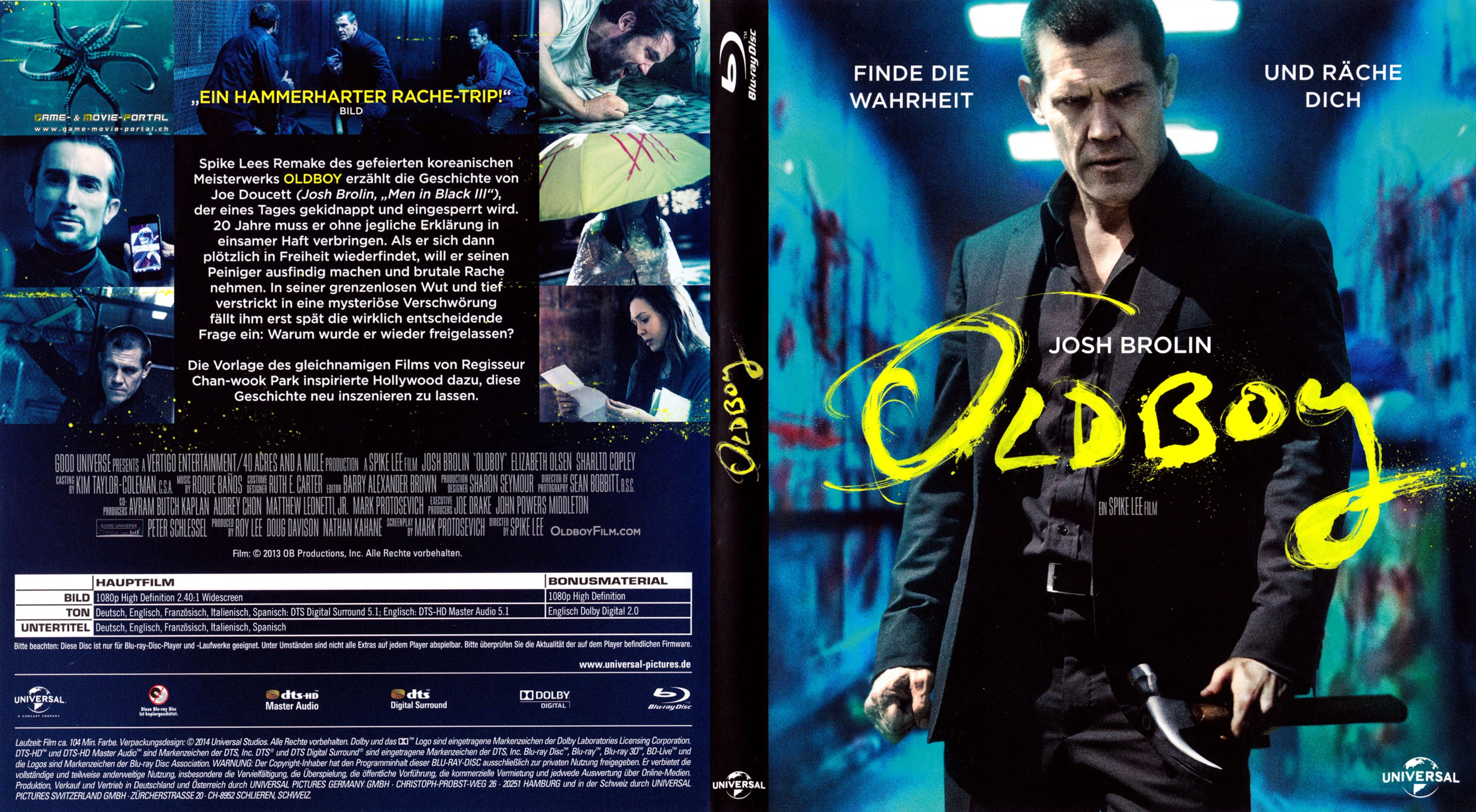 Oldboy Josh Brolin blu ray cover german | German DVD Covers