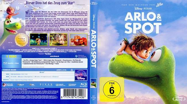 arlo und spot german blu ray cover german dvd covers. Black Bedroom Furniture Sets. Home Design Ideas