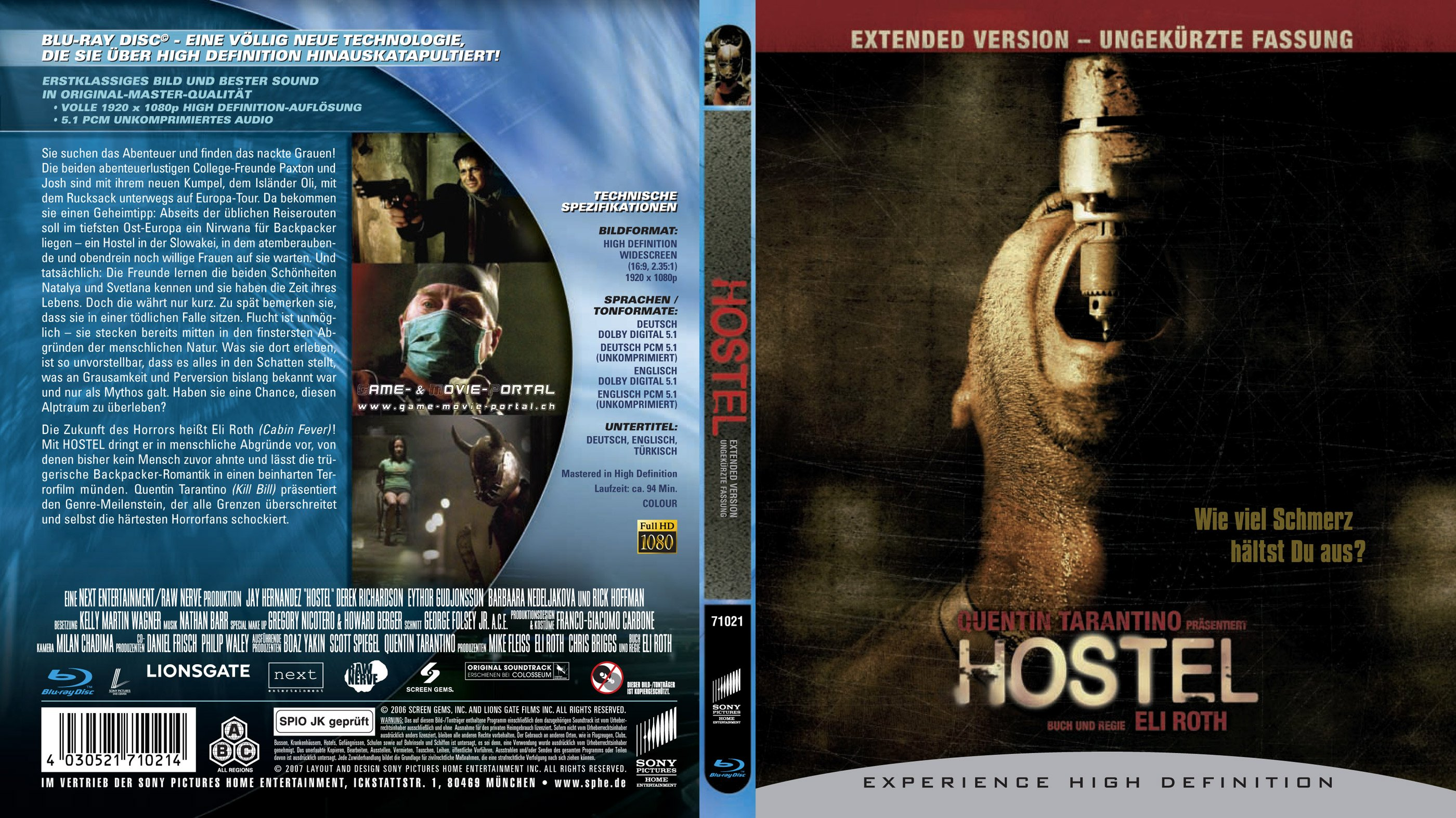 Hostel blu ray cover german | German DVD Covers