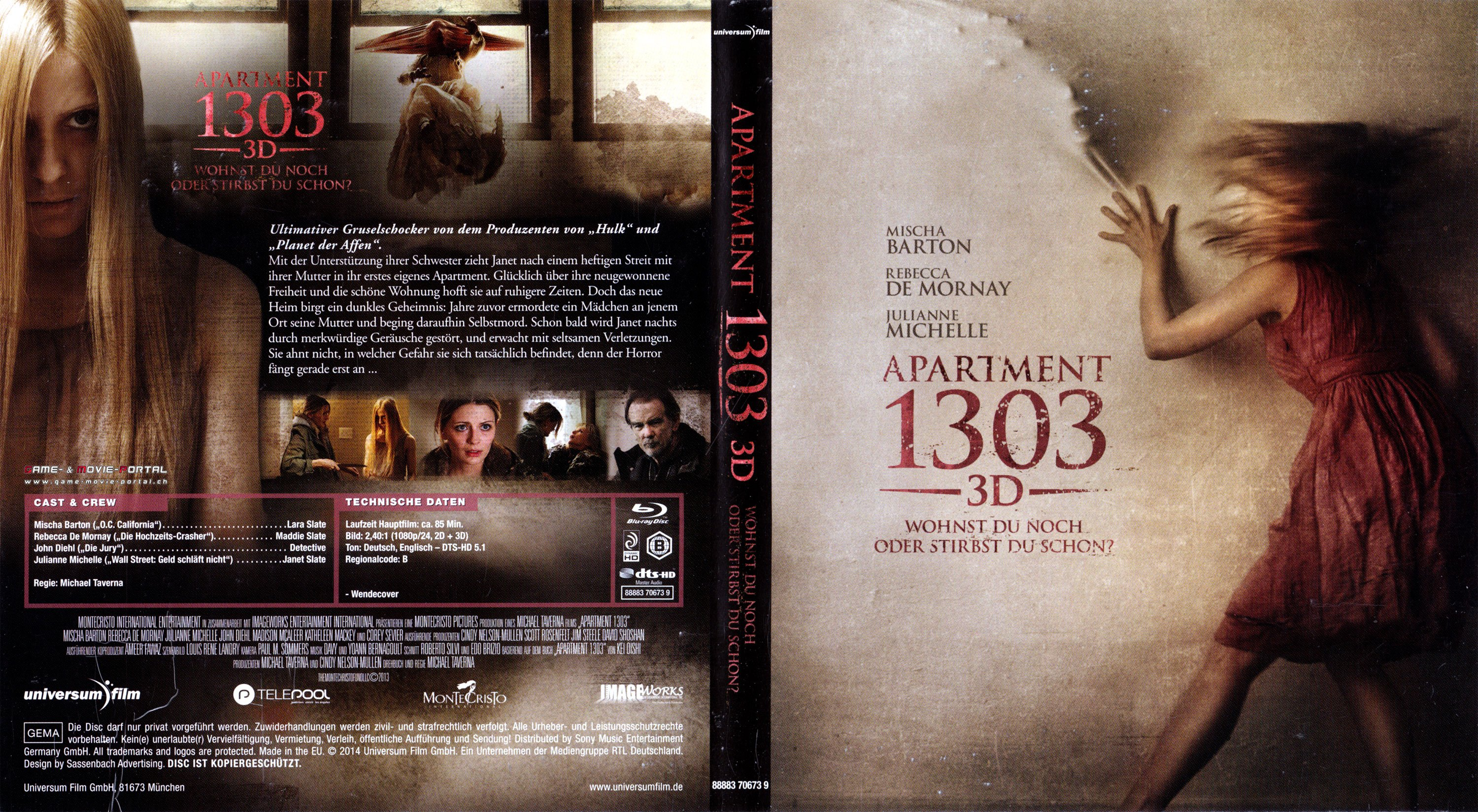 Apartment 1303 3D Blu Ray Cover German