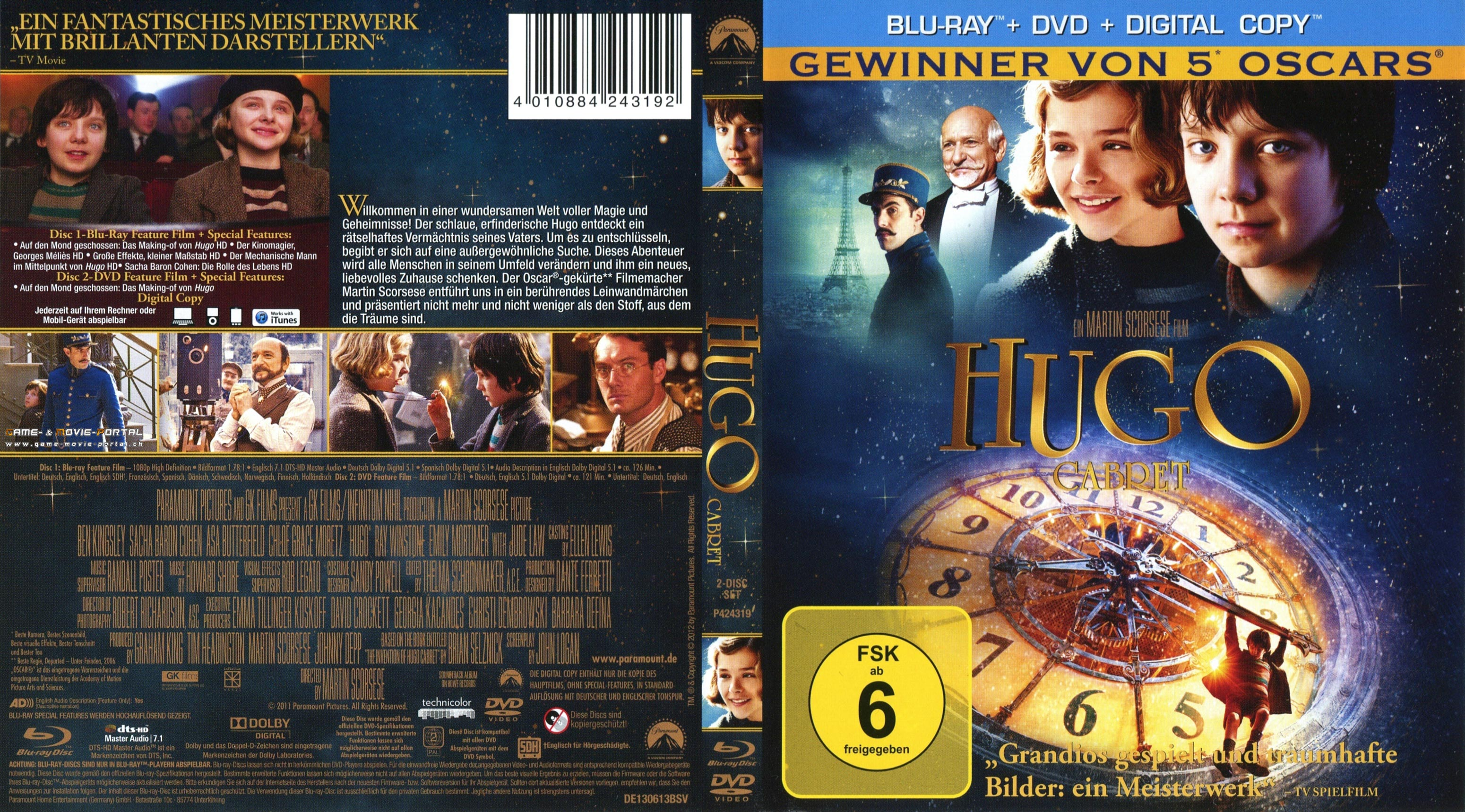 Hugo Cabret blu ray cover german | German DVD Covers Sandra Bullock