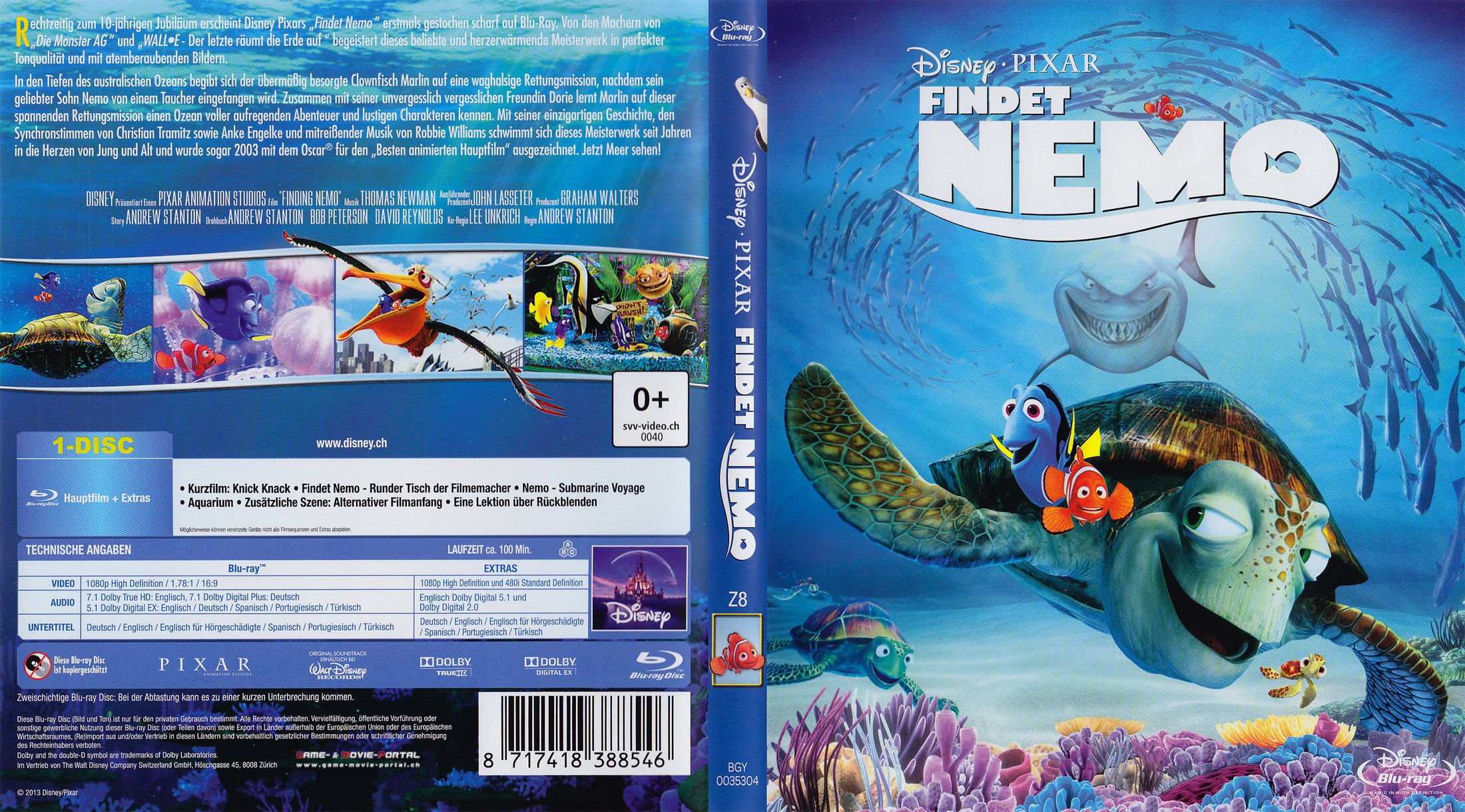 Findet Nemo blu ray cover german | German DVD Covers