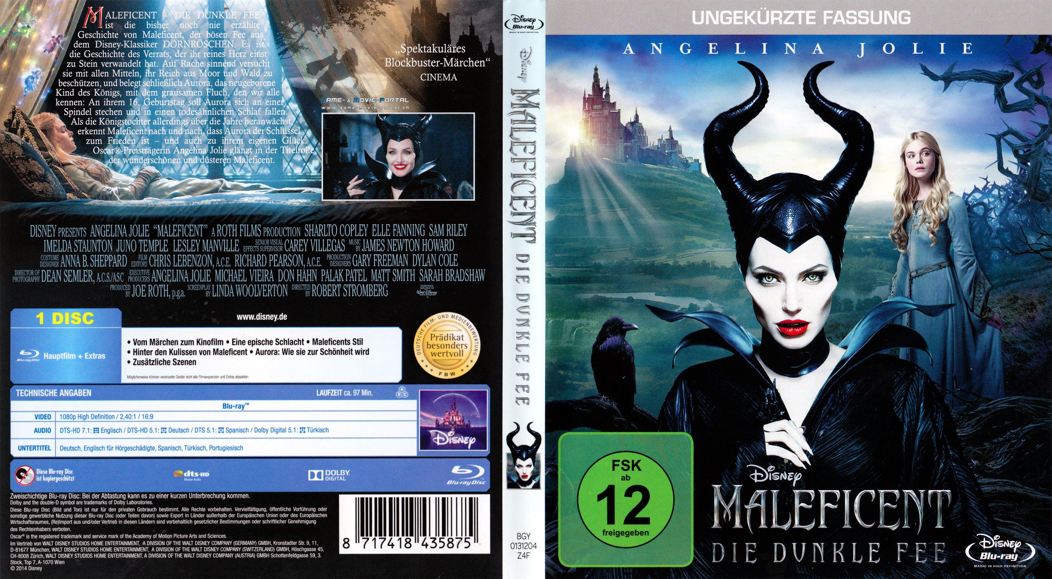 Maleficent Die Dunkle Fee blu ray cover german | German DVD Covers