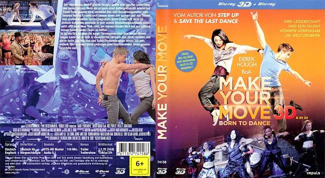 Make Your Move Born to Dance 3D blu ray cover german