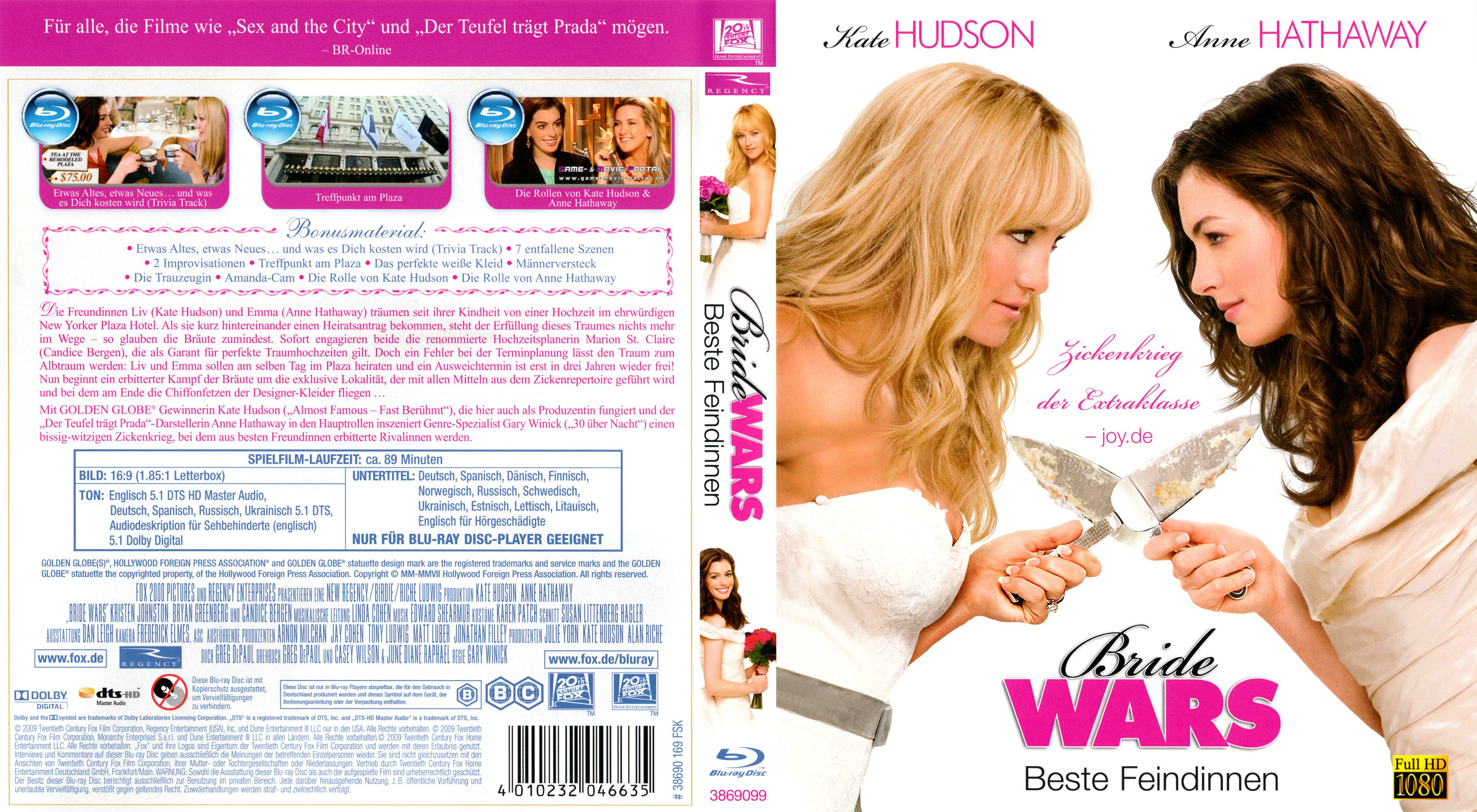 bride wars beste feindinnen blu ray cover german german dvd covers. Black Bedroom Furniture Sets. Home Design Ideas