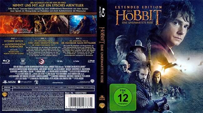 Der Hobbit 1 Eine unerwartete Reise Extended Edition german blu ray cover