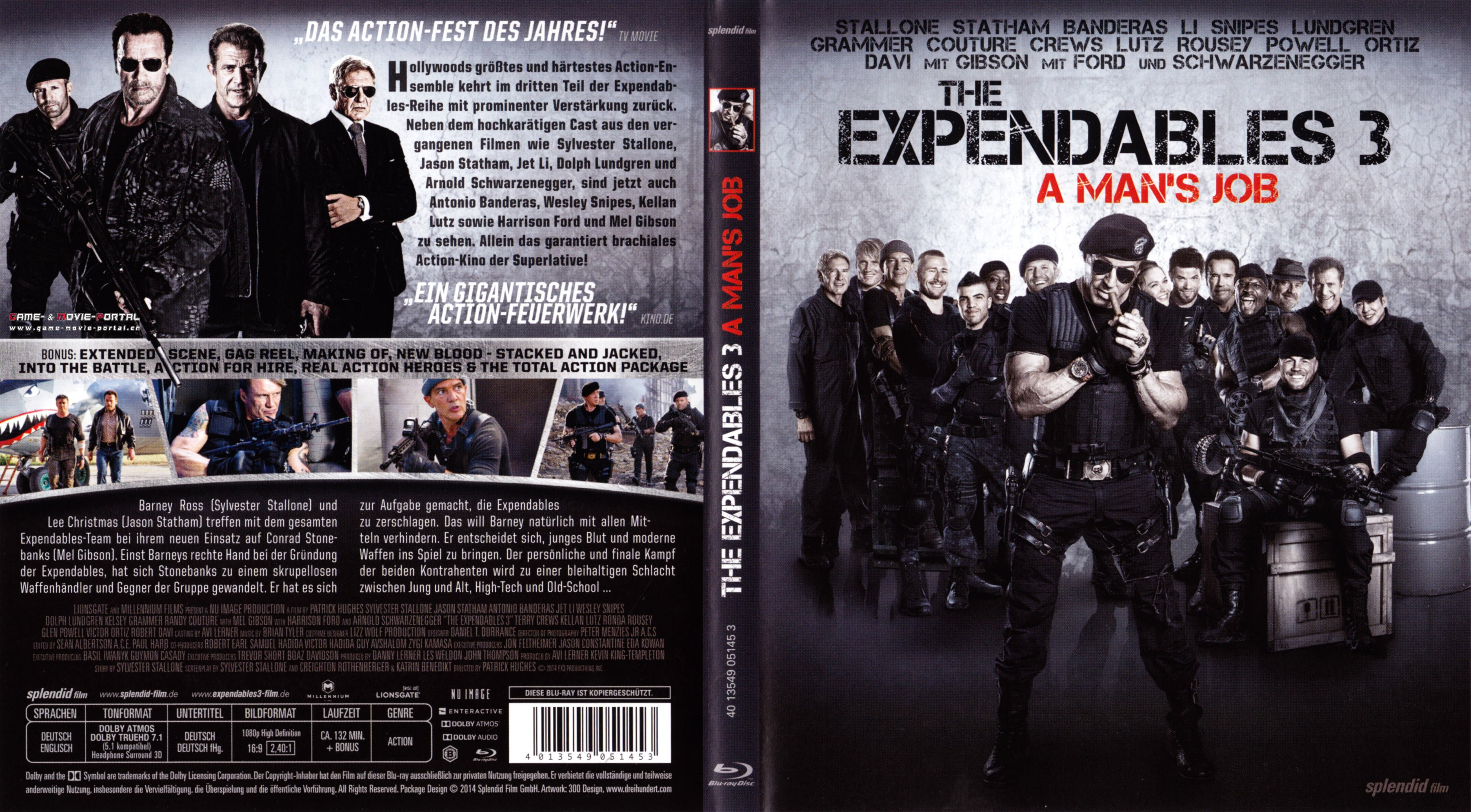 The Expendables 3 A Mans Job blu ray cover german | German ...