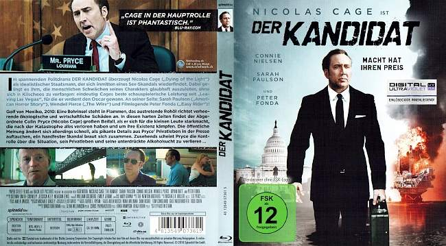 Der Kandidat Nicolas Cage blu ray cover german