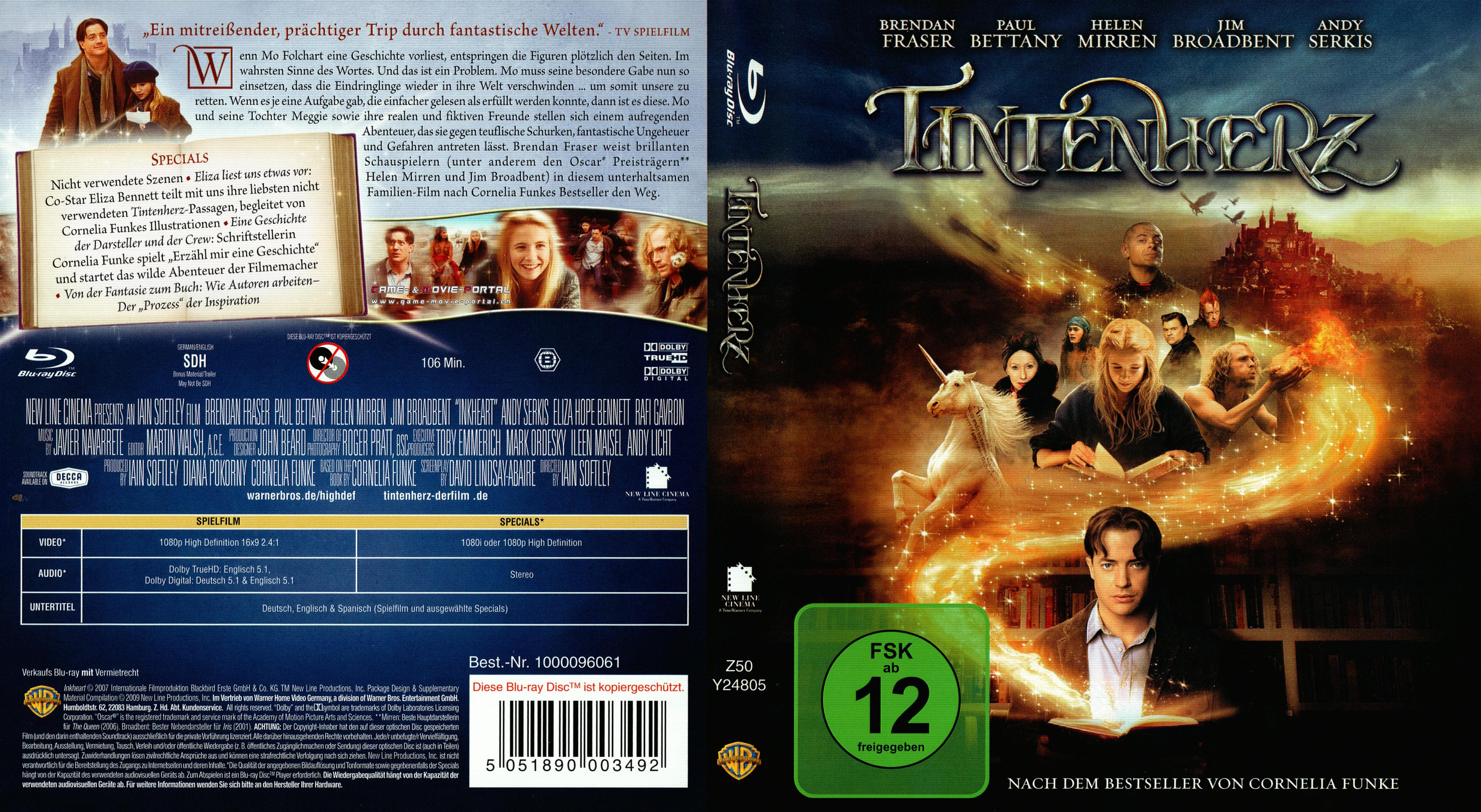 Tintenherz Blu Ray Cover German German Dvd Covers