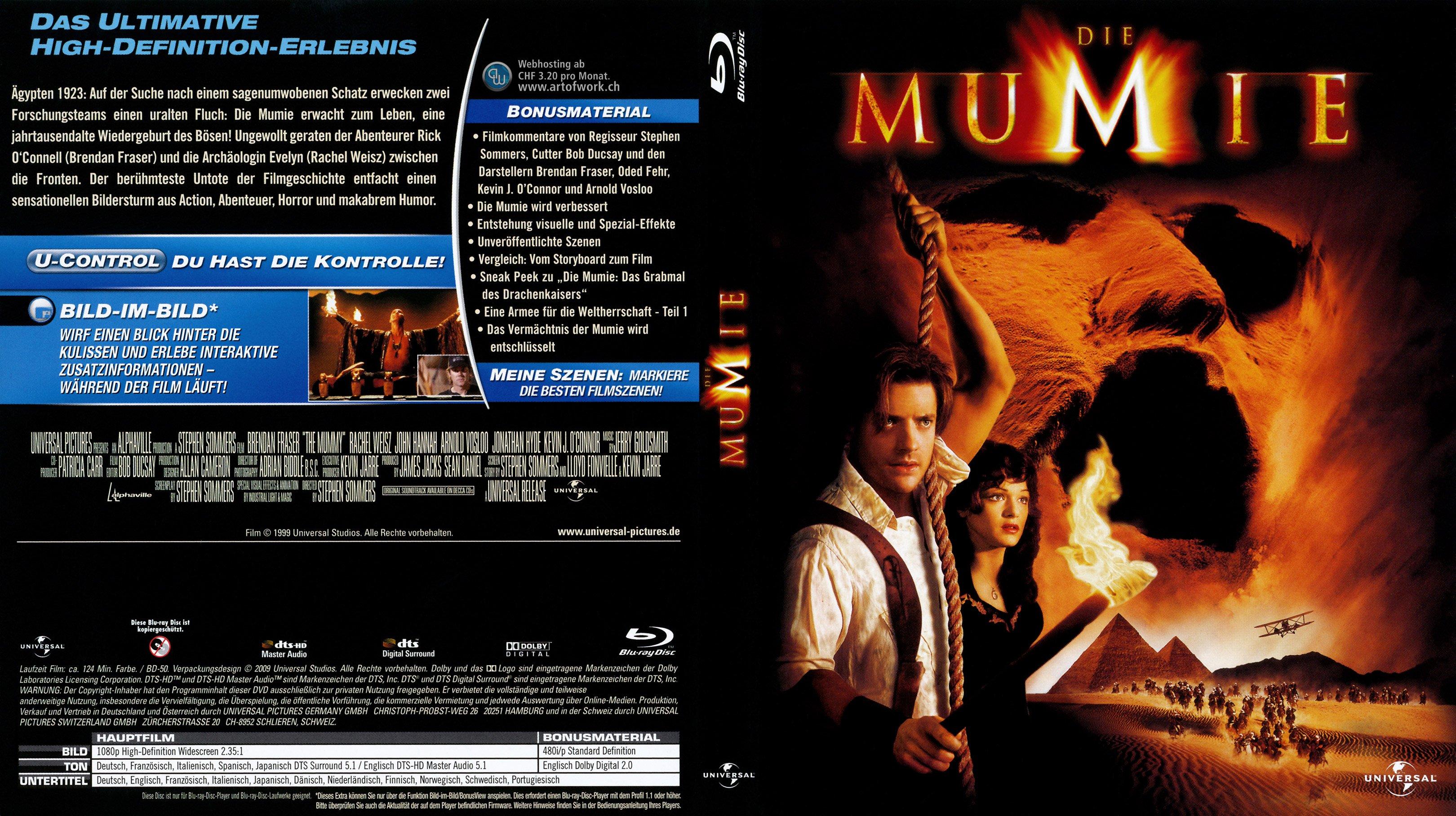 Die Mumie 1 german blu ray cover | German DVD Covers