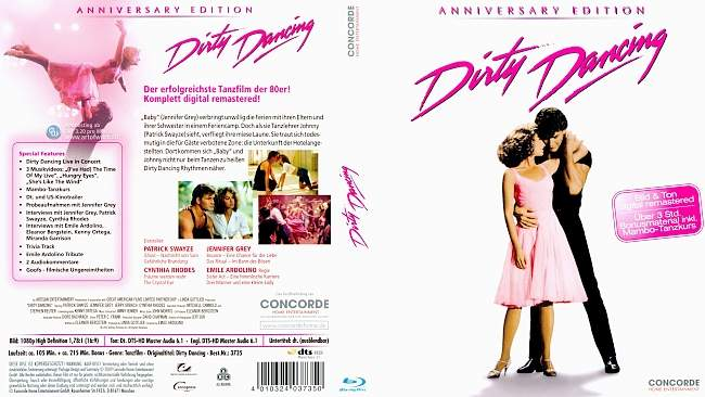 Dirty Dancing german blu ray cover
