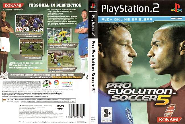 Pro Evolution Soccer 5 Playstation 2 cover german