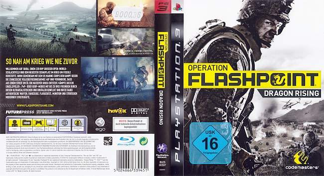 Operation Flashpoint Dragon Rising german ps3 cover