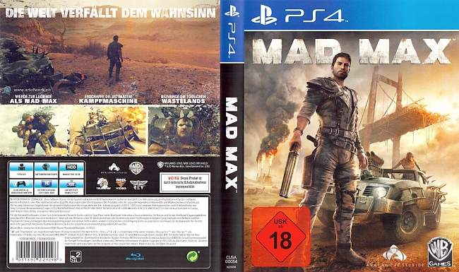 Mad Max german ps4 cover