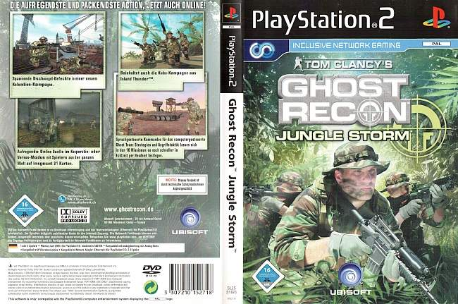 Ghost Recon Jungle Storm Playstation 2 cover german