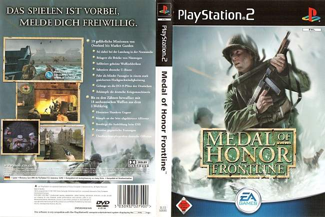Medal of Honor Frontline Playstation 2 cover german