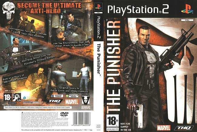 The Punisher Game Playstation 2 cover german