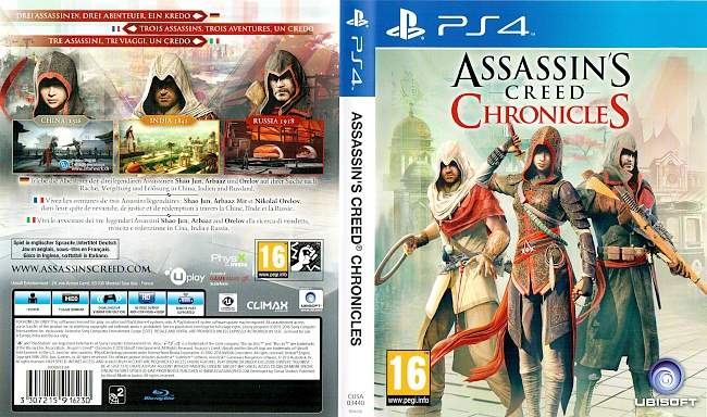 Assassins Creed Chronicles ps4 cover german