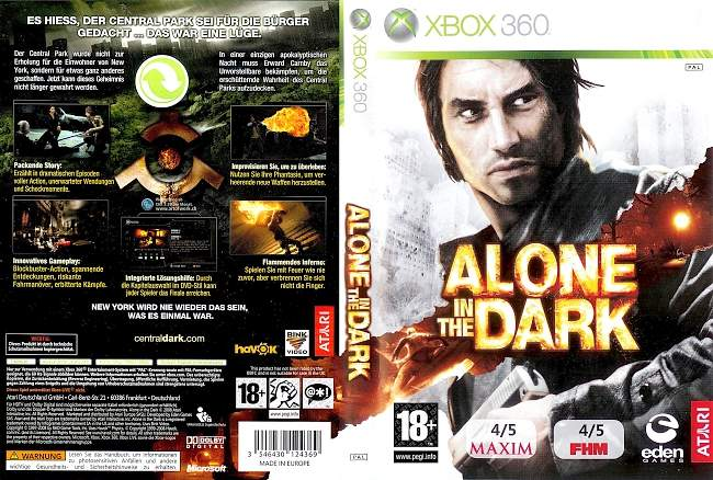 Alone in the Dark xbox 360 cover german