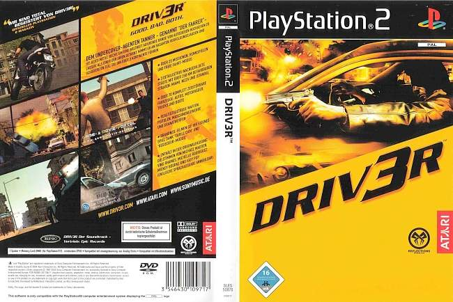 driver3 driv3r playstation 2 cover german german dvd covers. Black Bedroom Furniture Sets. Home Design Ideas
