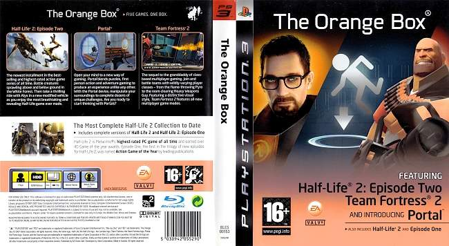 Half Life 2 The Orange Box german ps3 cover