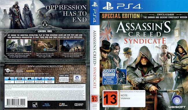 Assassins Creed Syndicate german ps4 cover