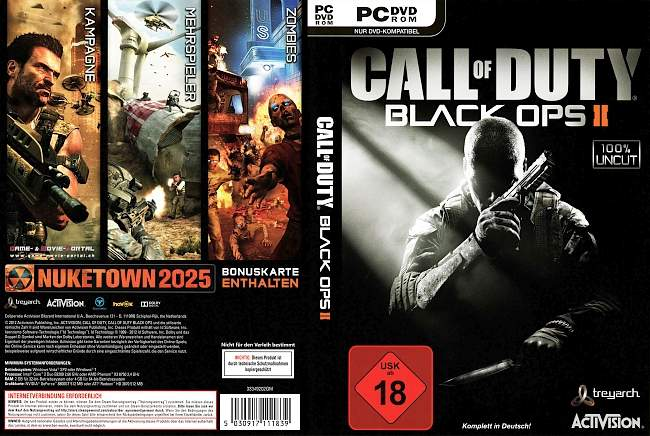 Call of Duty Black Ops 2 pc cover german