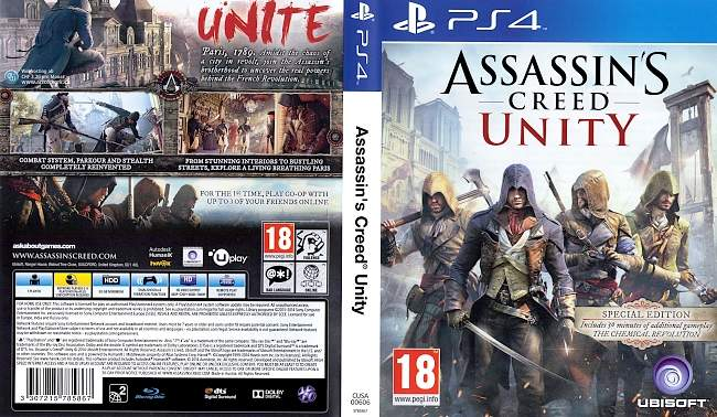 Assassins Creed Unity german ps4 cover
