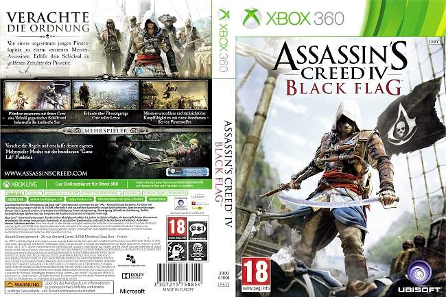 Assassins Creed IV Black Flag xbox 360 cover german