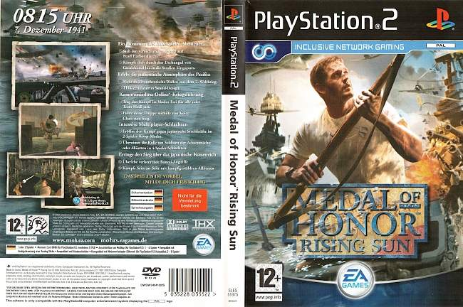 Medal of Honor Rising Sun Playstation 2 cover german