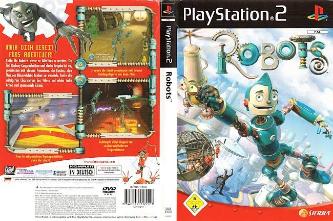 Robots Playstation 2 cover german