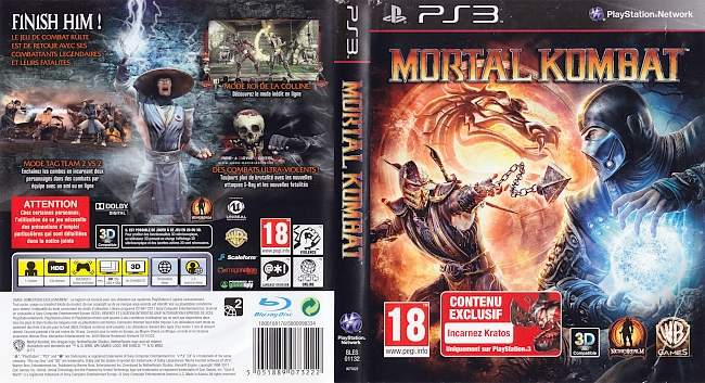 Mortal Kombat german ps3 cover