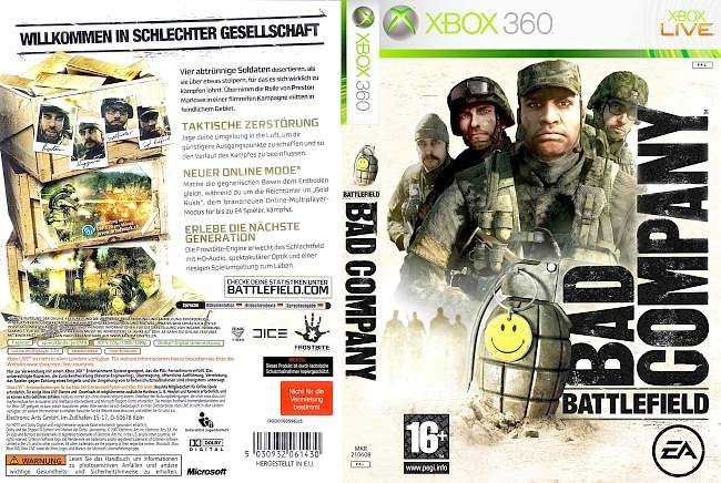 Battlefield Bad Company xbox 360 cover german