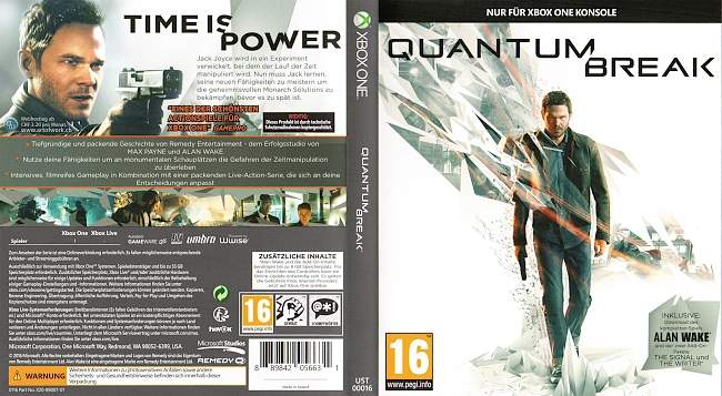 Quantum Break Cover german xbox one cover
