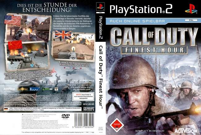 Call Of Duty FinestHour Playstation 2 cover german