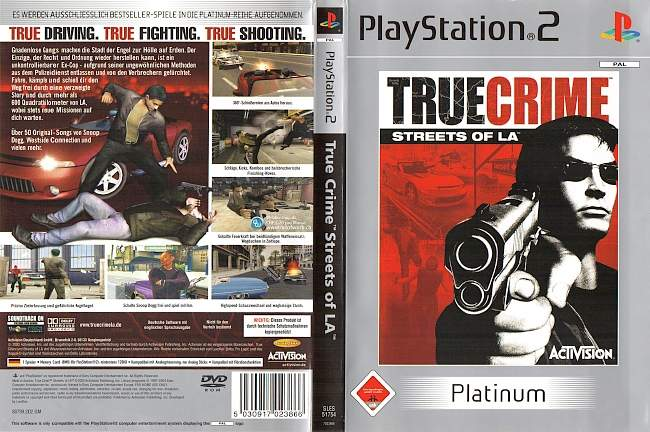 True Crime Streets of LA Playstation 2 cover german
